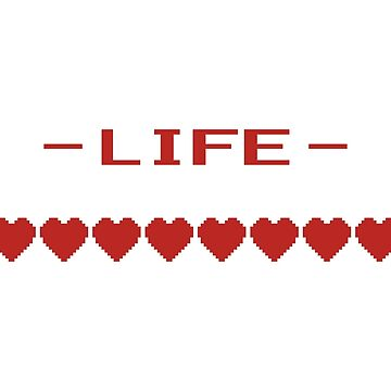 Video Game Heart Life Meter by TheShirtYurt