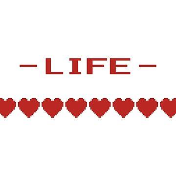 Video Game Heart Life Meter by TheShirtYurt