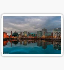 Liverpool ONE from Salthouse Dock Sticker