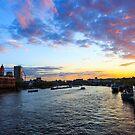 London at sunset by Julien Tordjman