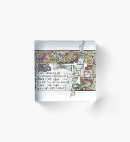 Home Blessing Acrylic Block