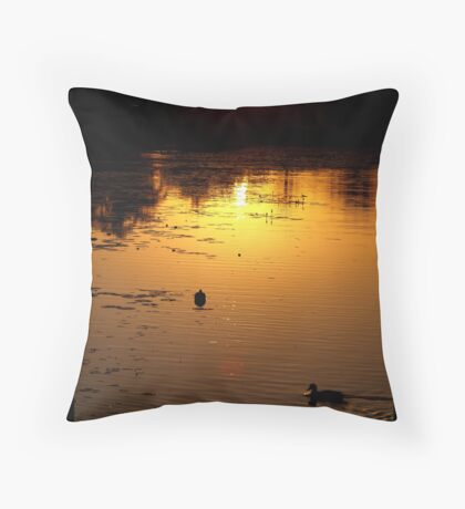 Natural Gold Throw Pillow
