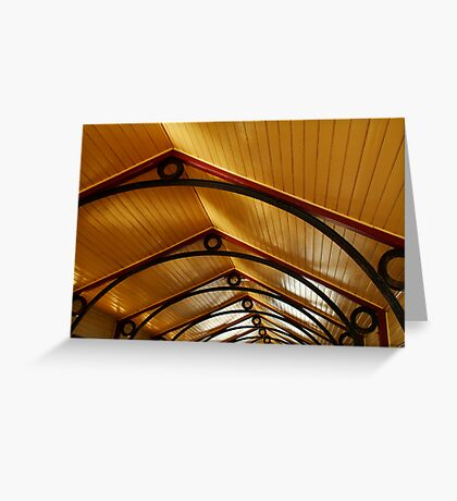 Above, Queenscliff Pier Shelter Shed Greeting Card