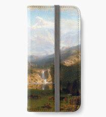 Albert Bierstadt The Rocky Mountains, Lander's Peak iPhone Wallet