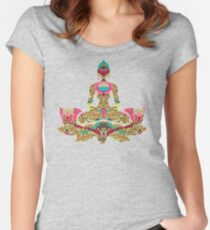 YOGA. SILENCE LEADS MOST PERFECTLY2 Women's Fitted Scoop T-Shirt