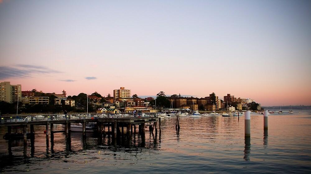 Wharf at Sunset by Lani