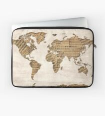world map music notes 5 Laptop Sleeve