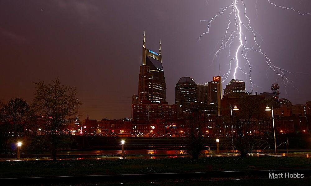 Lightning Over Nashville by Matt Hobbs