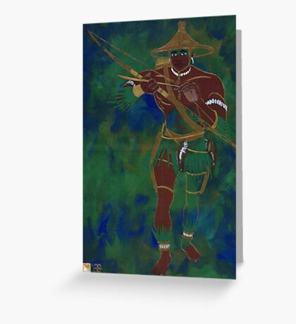 OCHOOSI - Orisha of Justice Greeting Card