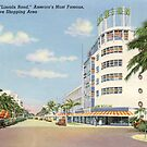 """""""Lincoln Road,"""" America's Most Famous Exclusive Shopping Area, Miami Beach, Florida Vintage Postcard by Framerkat"""