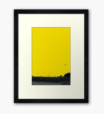 sunset lamp posts Framed Print