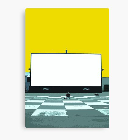 lonely screen Canvas Print