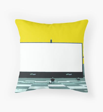 lonely screen Throw Pillow