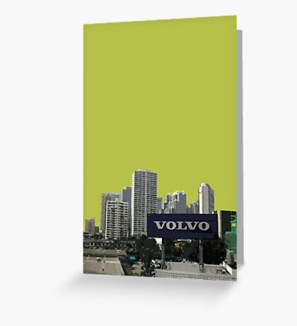 green volvo Greeting Card