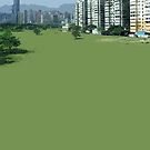 hong kong green by Yuval Fogelson