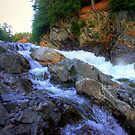 Colored Steps at Livermore Falls, Plymouth, NH by Wayne King