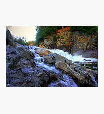 Colored Steps at Livermore Falls, Plymouth, NH Photographic Print