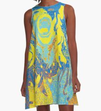 Womens' Protest March in Tucson and Beyond - A Portrait Story blue A-Line Dress