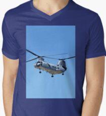 CH-46 Sea Knight in flight Men's V-Neck T-Shirt