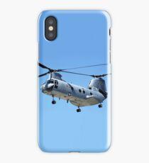 CH-46 Sea Knight in flight iPhone Case/Skin