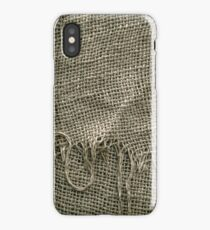 Burlap Sack Texture iPhone Case/Skin