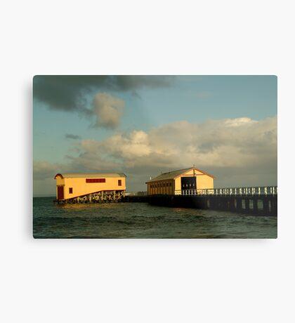 Passing Storm, Queenscliff Pier Metal Print