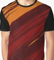 Ragged red and orange abstract background Graphic T-Shirt