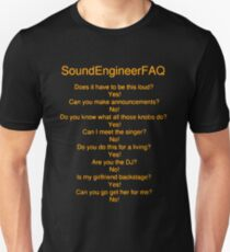 sound engineer FAQ T-Shirt