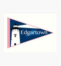 Edgartown Pennant (Vineyard Vines Style) Art Print
