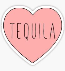 I Love Tequila Heart Sticker