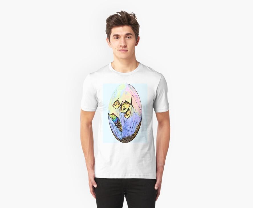 t-shirt fish globe by robert murray