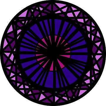 stained glass circles.  by cliffovevo