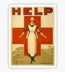 Nurse WWII Sticker