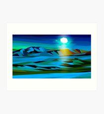 Desert (moonlight) Art Print