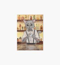 Bartender Cat Takeshi Art Board