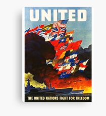 United WWII Canvas Print