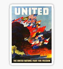 United WWII Sticker