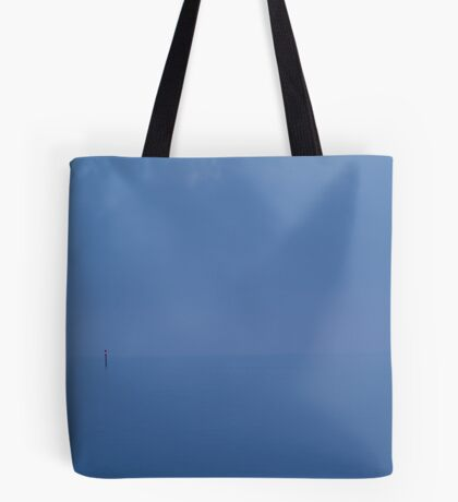 Red Channel Light, Misty Twilight, Queenscliff Tote Bag