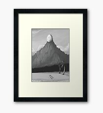 The Egg on the Mountain  Framed Print