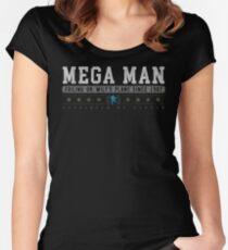 Mega Man - Vintage - Black Women's Fitted Scoop T-Shirt