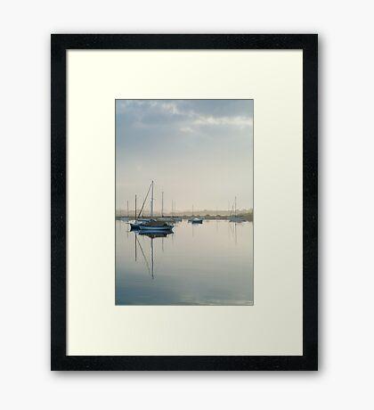 Misty Morning, Swan Bay Queenscliff Framed Print
