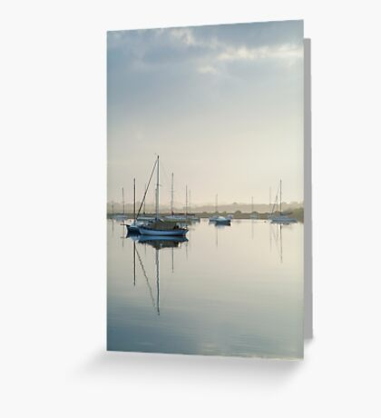 Misty Morning, Swan Bay Queenscliff Greeting Card