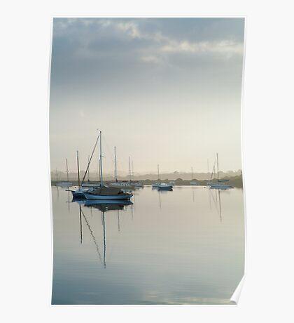 Misty Morning, Swan Bay Queenscliff Poster