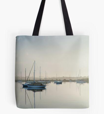 Misty Morning, Swan Bay Queenscliff Tote Bag