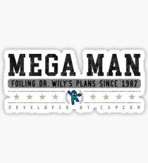 Mega Man - Vintage - White Sticker