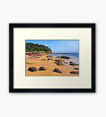 Bar Beach - Merimbula Framed Print