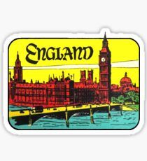 England Big Ben Vintage Travel Decal Sticker