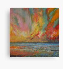 Hidden Heart Lava Sky Canvas Print
