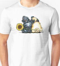 Camiseta unisex Sunny Pugs