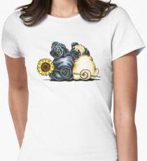 Camiseta entallada para mujer Sunny Pugs